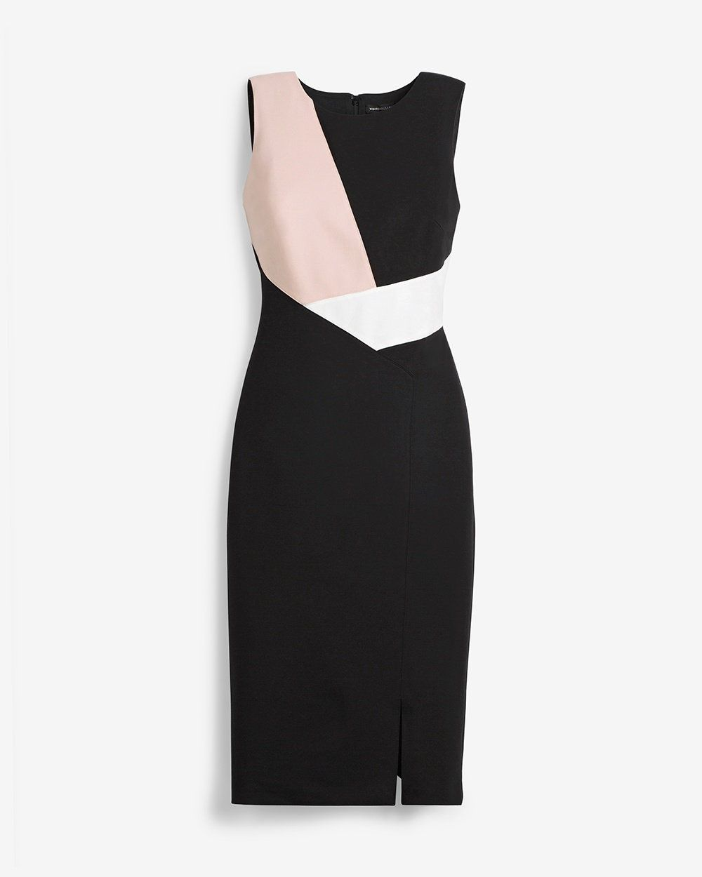 Sleeveless Colorblock Sheath