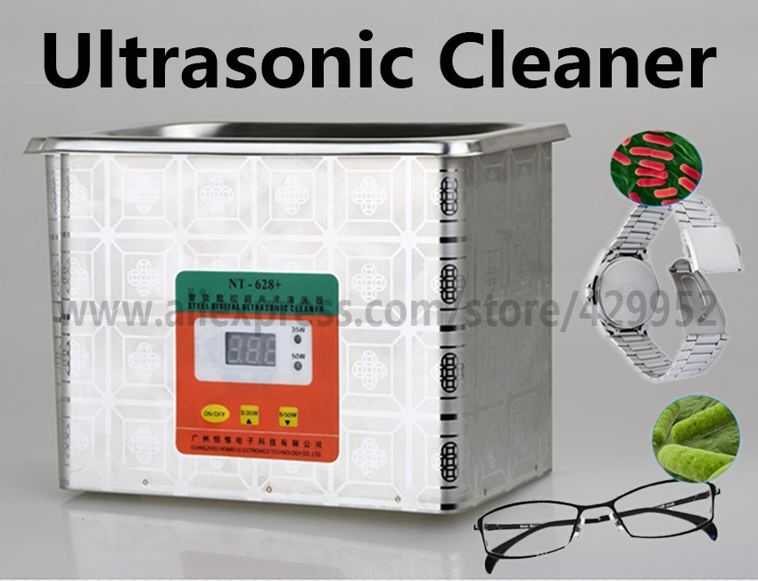 31.60$  Buy now - http://alizut.shopchina.info/go.php?t=32813219848 - Ultrasonic Cleaner Stainless Steel Tank Digital Display 35W-50W For Cleanning Jewelry Glasses Watch Circuit Board  31.60$ #magazineonlinebeautiful