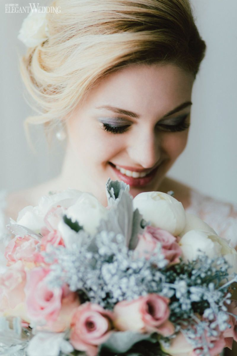 Winter Bridal Makeup and Hair, Blonde Bridal Up-Do www ...