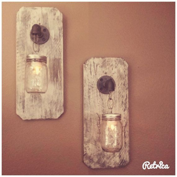 Rustic faucet wall sconce light 2 by rustickbroomstic on Etsy