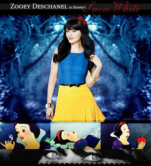 Zooey Deschanel as Snow White! Soo perfect!