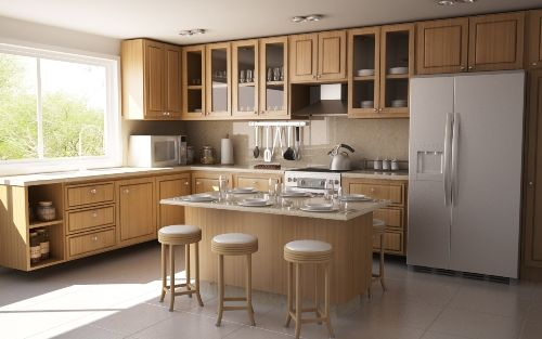 Captivating L Shaped Kitchen Layout Ideas In L Shaped Kitchen With - simple kitchens designs
