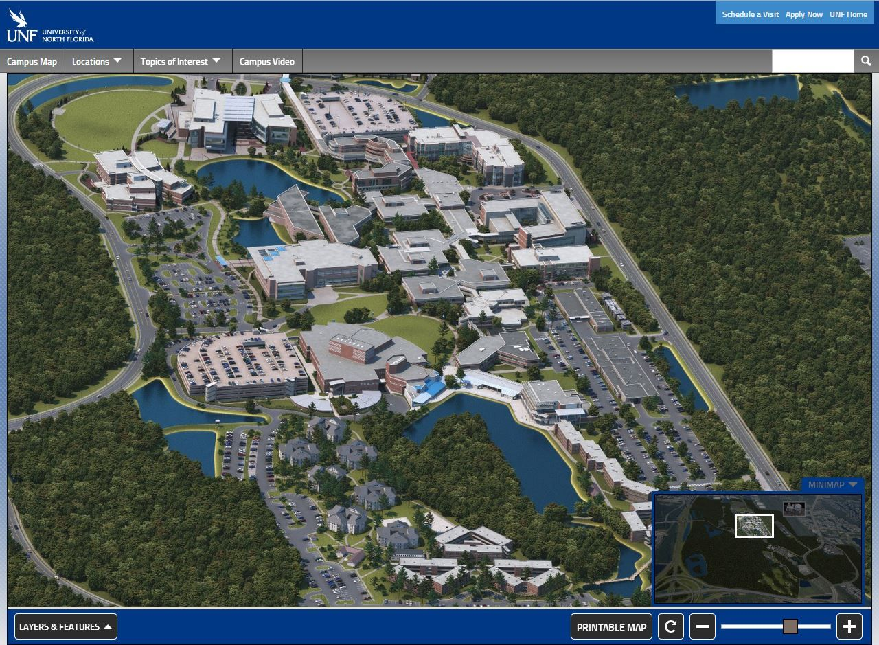 Best University Of North Florida Interactive Map Images On - North florida map