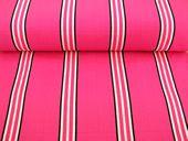 Deckchair fabrics- Racquets stripe #pink #white #black #stripes #deckchaircanvas #stripes http://www.thestripescompany.com/shop/Deckchair-Canvas-45cm/Racquets