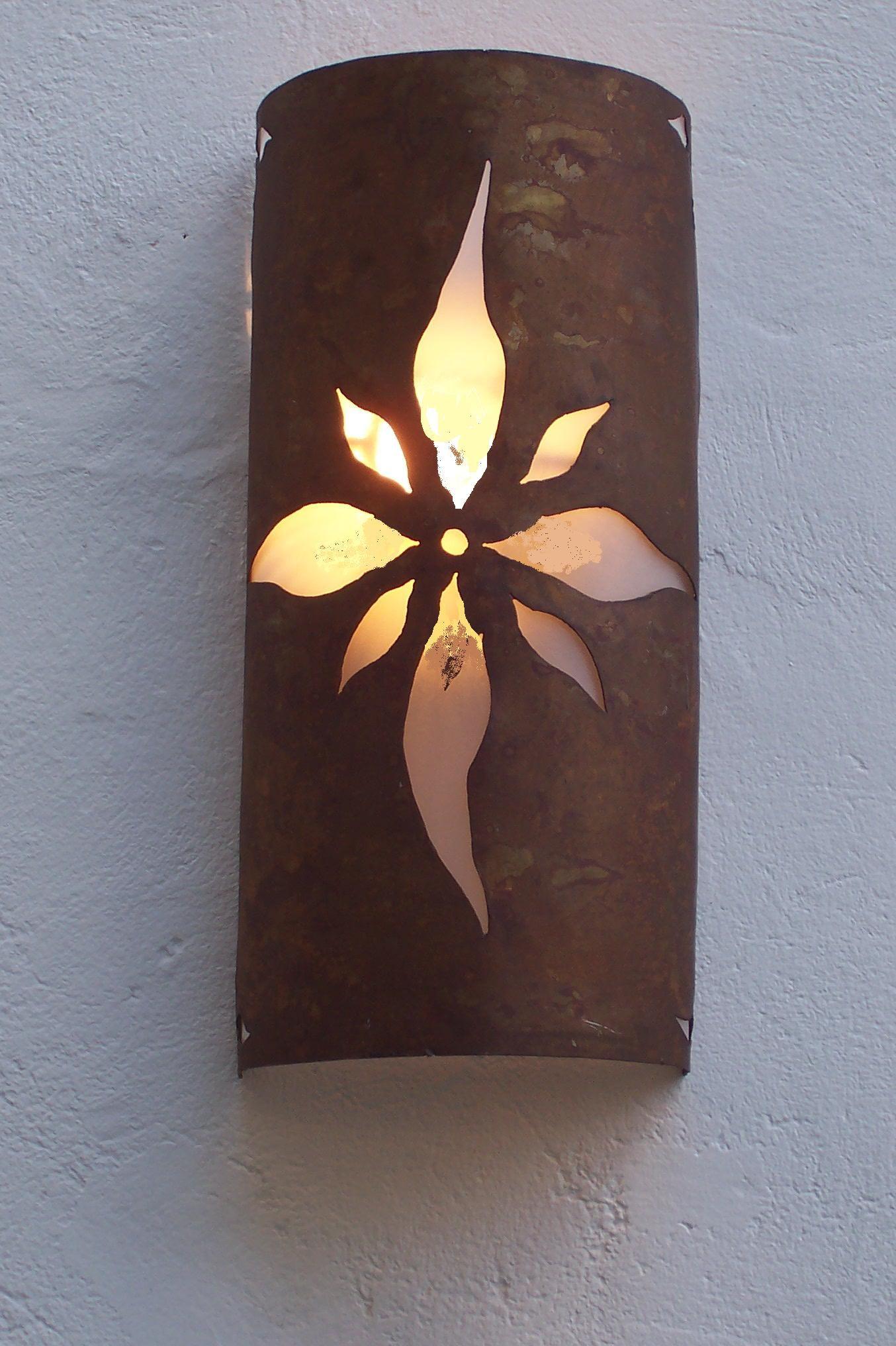 Aplique Media Cana Calado Flor Lampara De Bambu Lamparas De Ceramica Pantallas De Lamparas