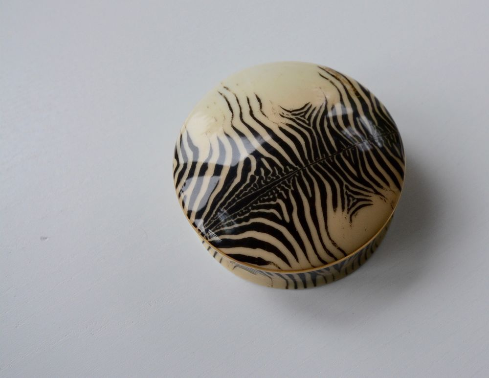 Roberto Cavalli Zebra Trinket box, Jewellery box. RARE ,Now discontinued, French