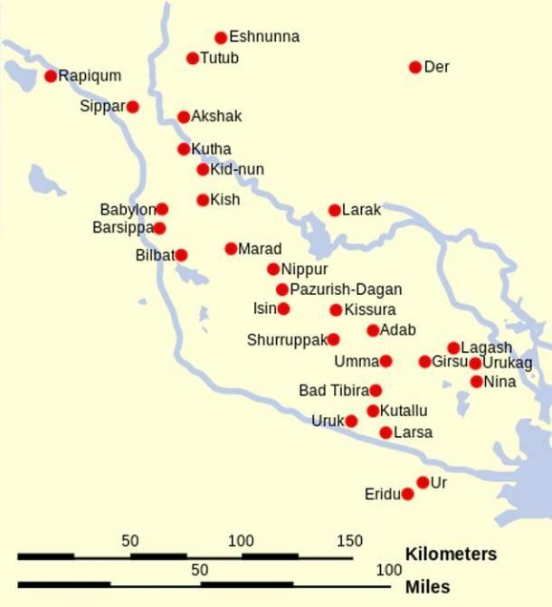 Sumer Map Location