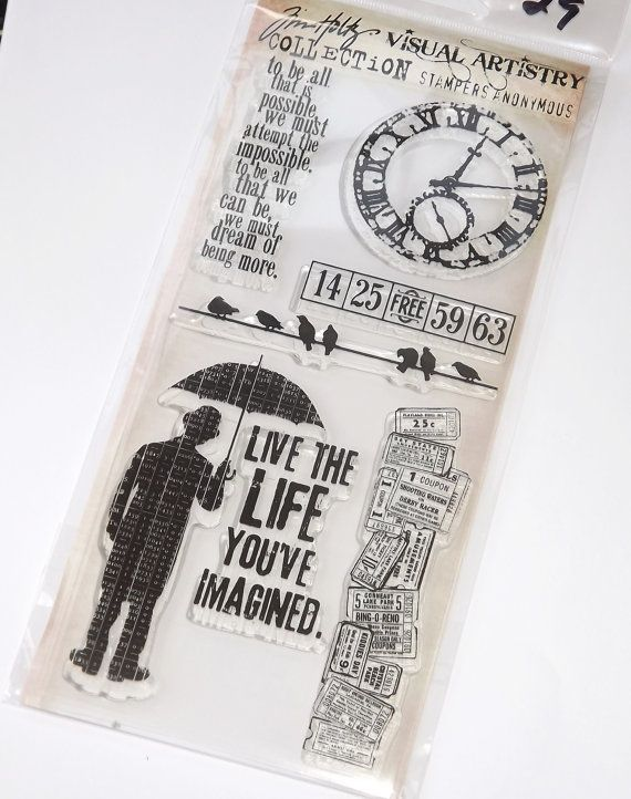 Tim Holtz Clear Rubber Stamps  Life's by thepinkmarket on Etsy,