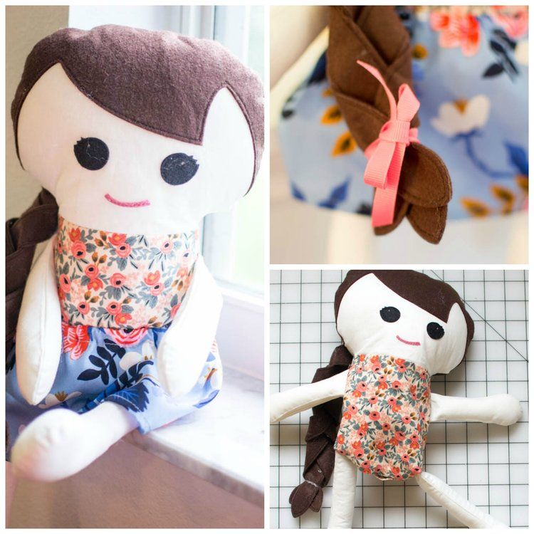 Adorable Free Fabric Doll Pattern - Meet Katy! | Muñecas