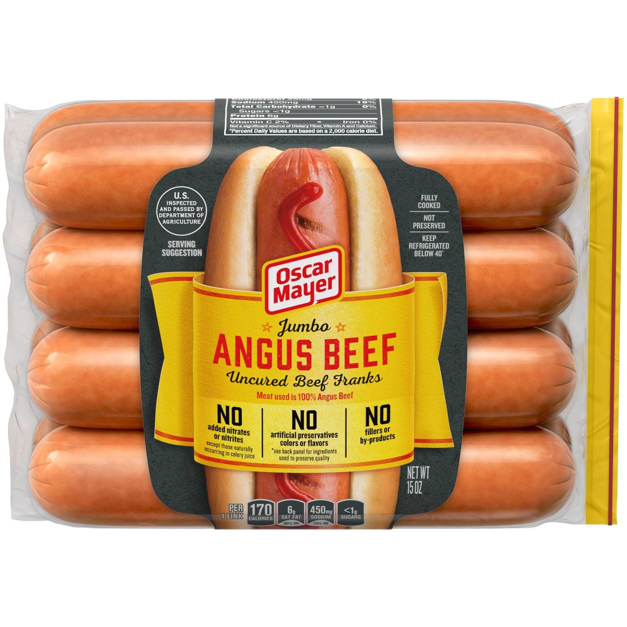 Oscar Mayer Premium Jumbo Angus Beef Hot Dogs 15oz 8ct Beef Hot Dogs Angus Beef Hot Dogs