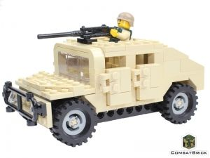 Humvee US Army Gun Truck Set made w// real LEGO® bricks HMMWV model kit toy guns