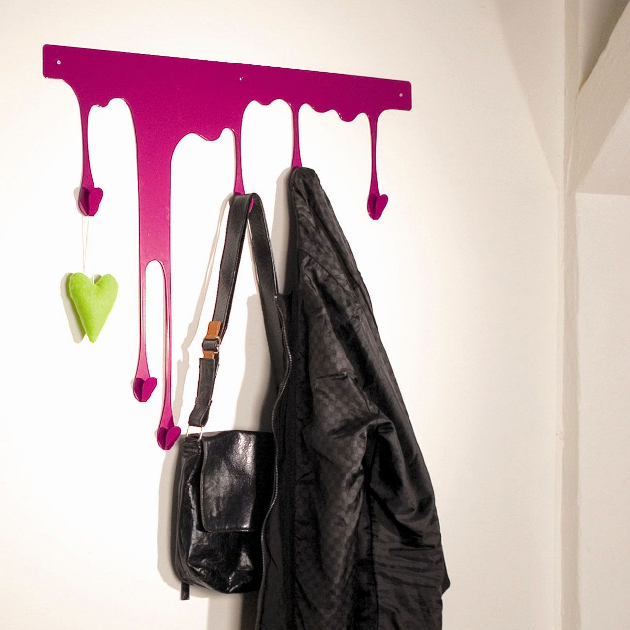 Drop coat rack