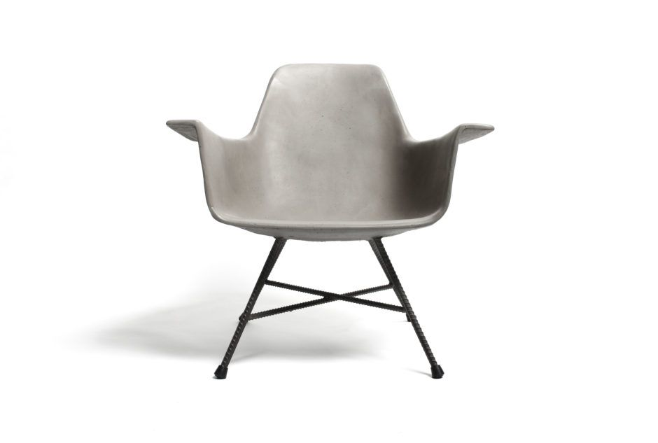 HAUTEVILLE - Low Armchair by LYON BETON made in France on CROWDYHOUSE  #concrete #industrial #design