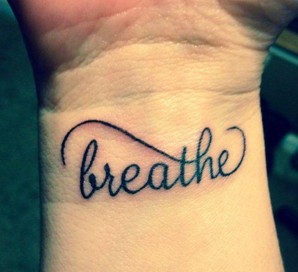 58cc1395c60db Breathe Lettering Tattoo On Wrist | Tattoo | Just breathe tattoo ...