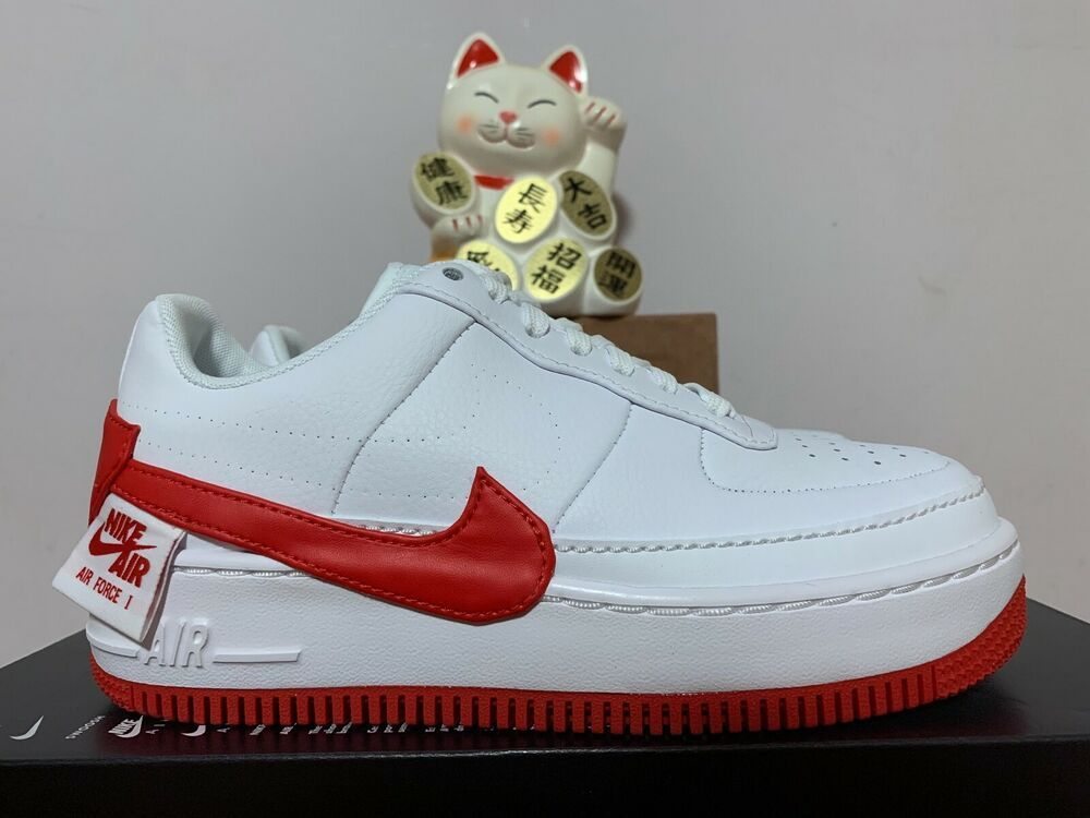 c60b9a3e9dca1 Nike AF1 Air Force Jester XX White University Red New Women's 6 ...