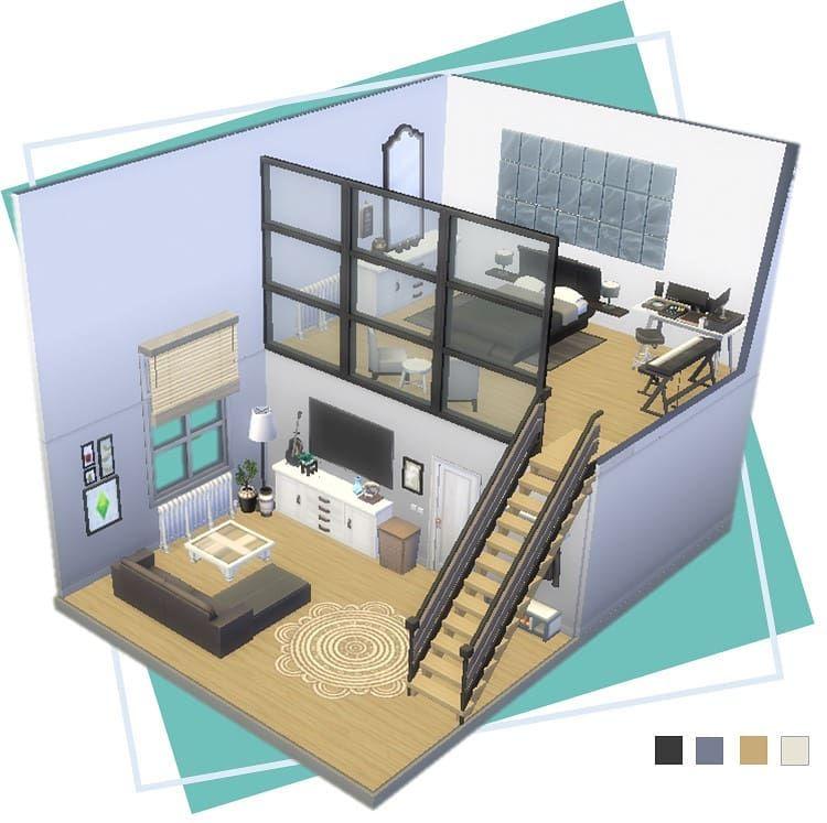 Pantufasims On Instagram Modern Music Producer Loft Dollhouse Sims4dollhouse Sims4 Sims Freeplay Houses Sims 4 House Design Sims House Design