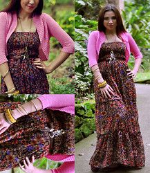 Schel Silva - Forever 21 Maxi Dress, Pink Short Cardigan, Landmark ...