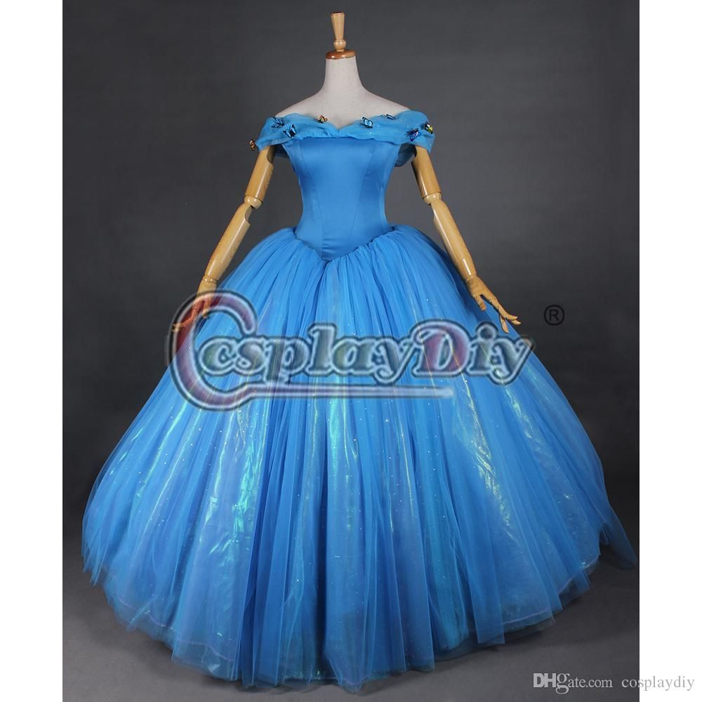 How to make a princess dress for toddler google search varras 2015 movie cinderella princess cinderella dress adult women deluxe blue wedding dress costume party dress plus size custom ombrellifo Image collections