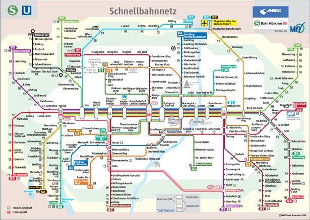 Design around the world metro maps webdesigner depot metro maps tube map of munich train and subway system gumiabroncs Choice Image