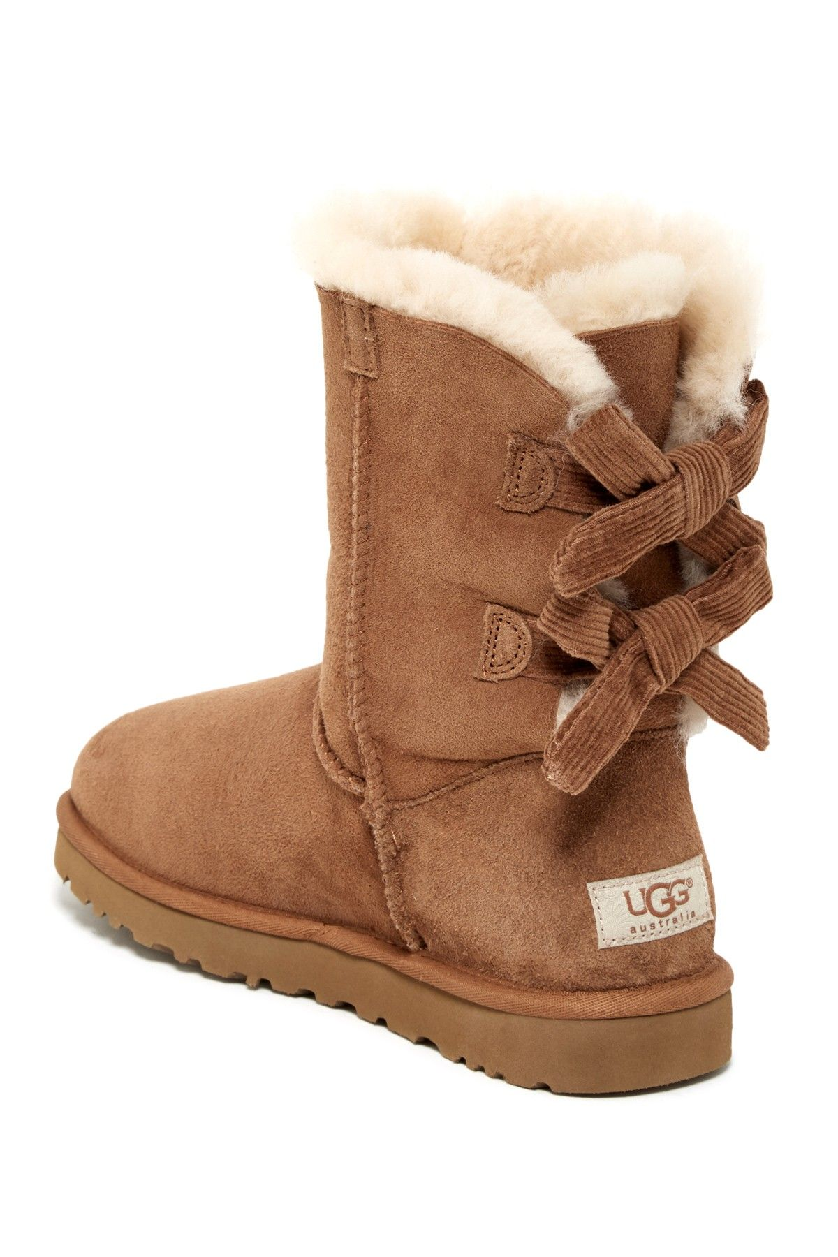 Ugg Australia Baily Bow Corduroy Genuine Shearling Fur Boot Nordstrom Rack Sponsored By