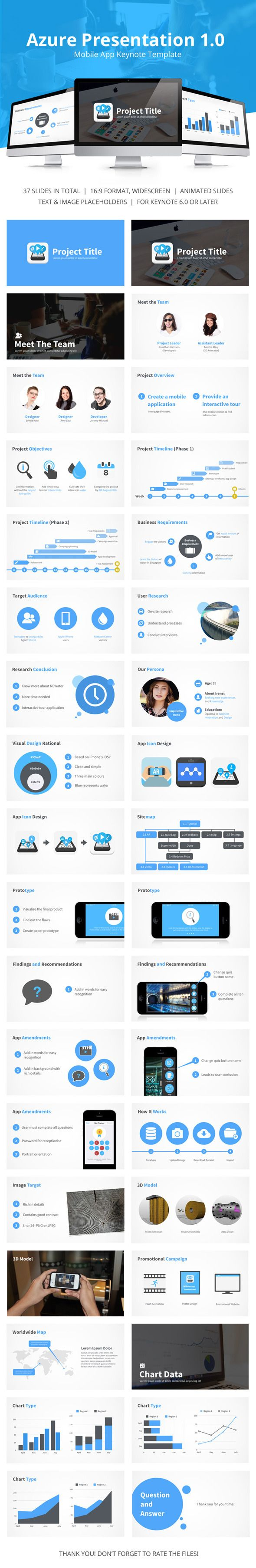 azure mobile app presentation template design download http