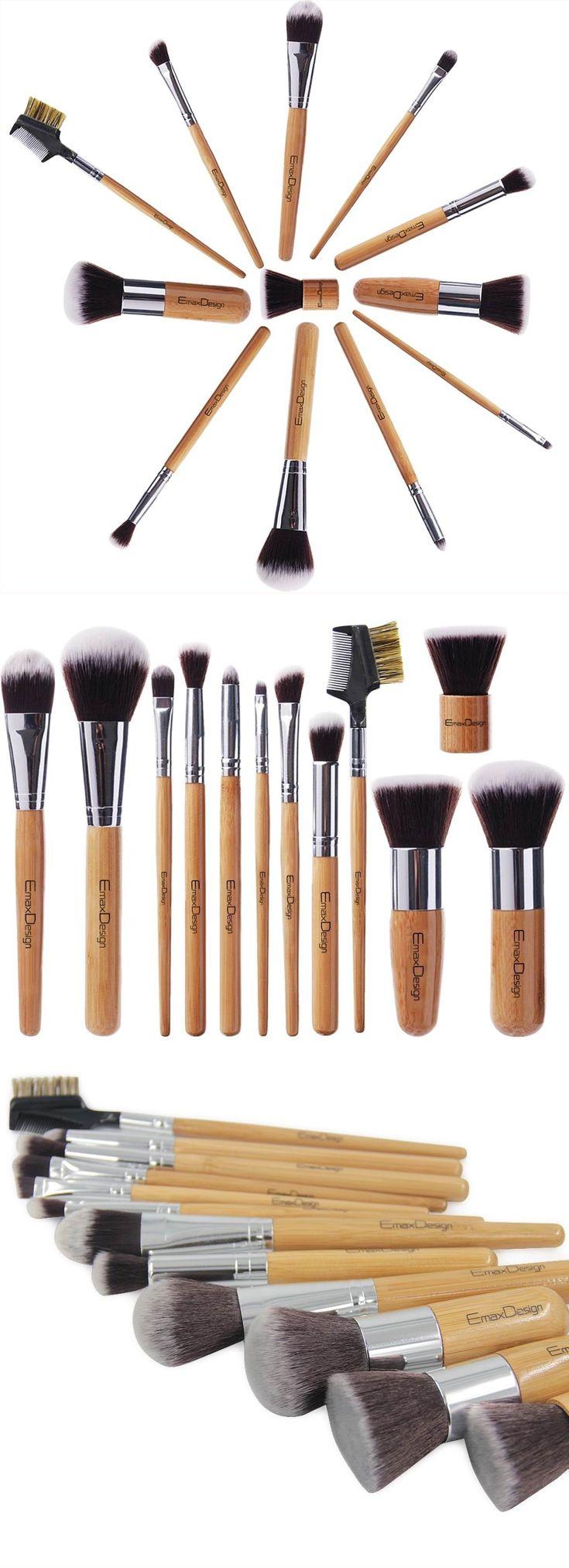 I Like Bamboo! EmaxDesign 12 Pieces Makeup Brush Set