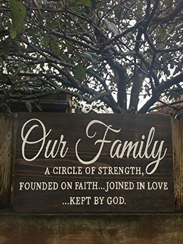 Our Family Bible Quote Wood Sign Bible Verse Family Sign Hand