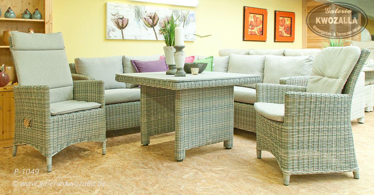 Gartenmobel Terrassenmobel Loungeecke Sessel Mit Verstellbarer