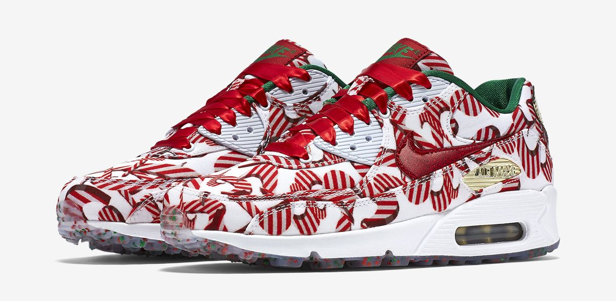 Nike Has a Wild  Christmas  Air Max 90 Coming. They Are AMAZING! Satin  Laces b67ec23da