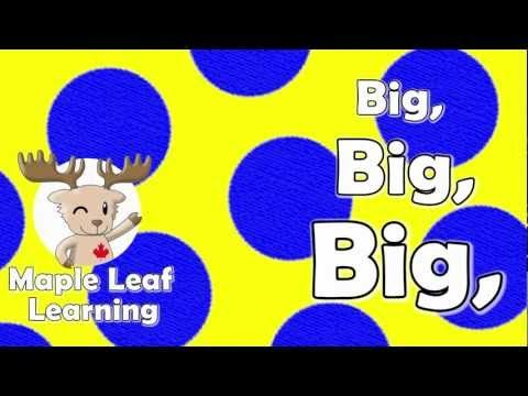 Big, Big, Big (The Adjective & Antonyms) | Ingles niños, Niños