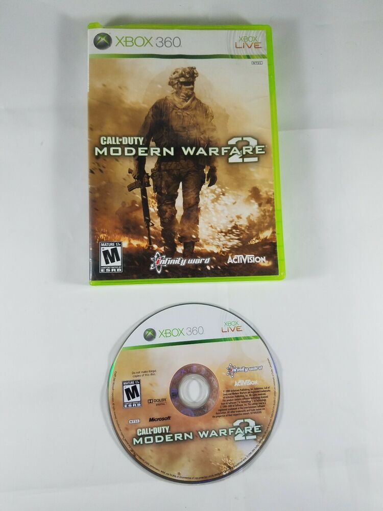 Call Of Duty Modern Warfare 2 For Xbox 360 Shooter Video Game