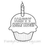 Happy Birthday Coloring Pages Familyfuncoloring Happy Birthday Coloring Pages Birthday Coloring Pages Cupcake Coloring Pages