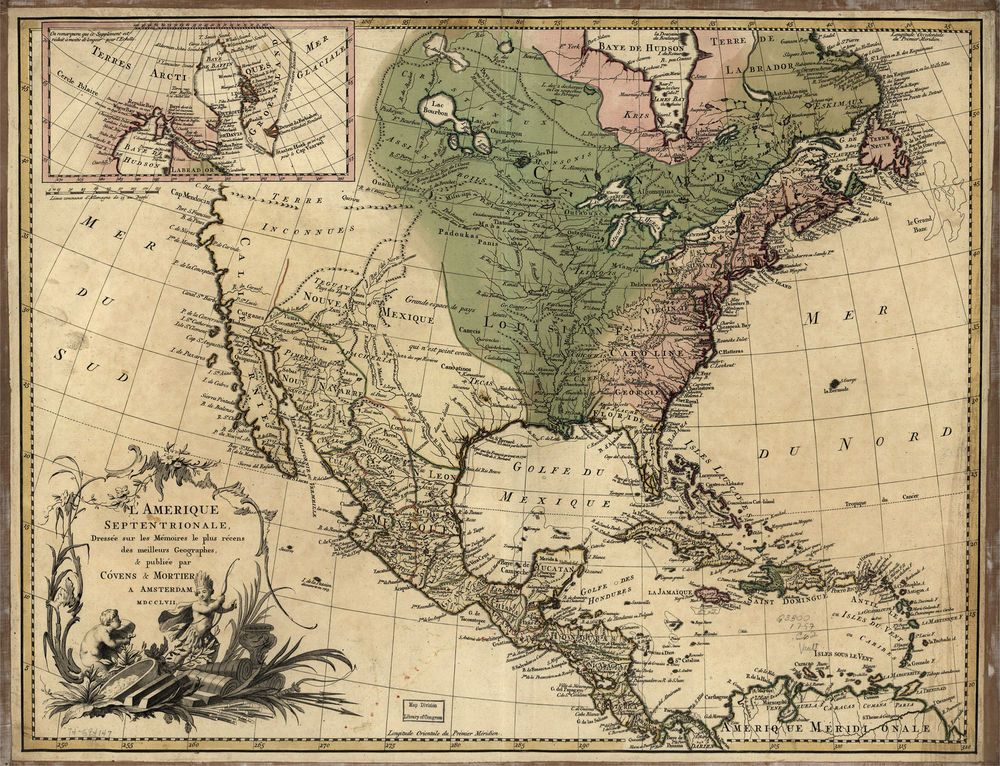 1757 North America MAP, 20\