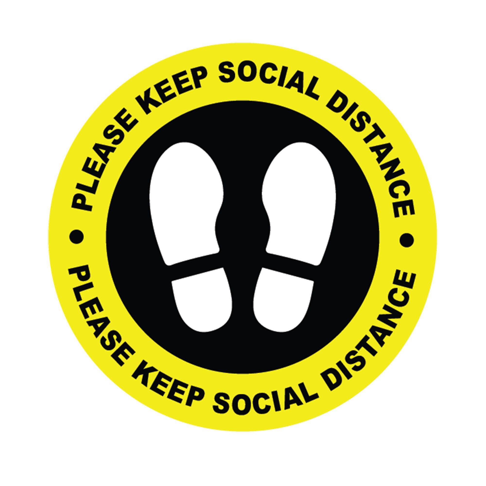 Social distancing stickers Keep social distance Self