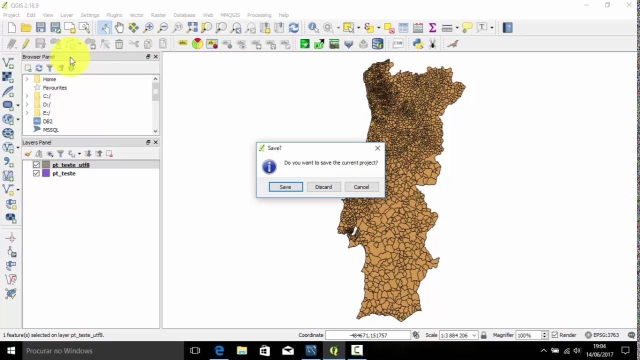 QGIS 2 18 x How to import a Shapefile to MySQL only using the