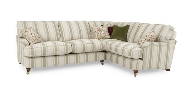 Gower Racing Stripe Left Hand Facing 3 Seater Corner Sofa Dfs