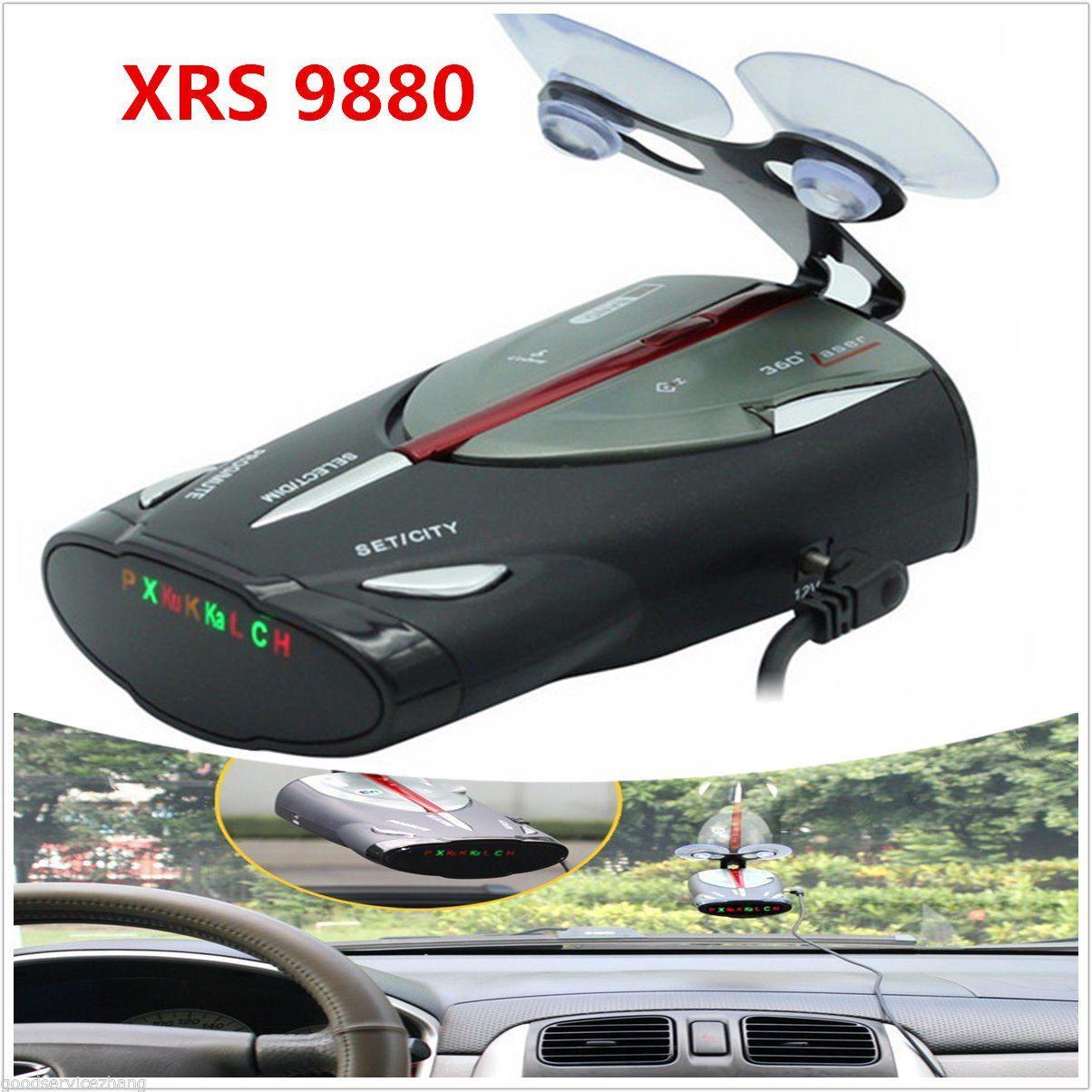 Car 16-Band GPS Radar Detector Cobra XRS 9880 Laser Anti Radar Detectors 360° /&