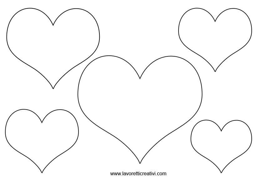 Sagome Di Cuori Di Varie Dimensioni Cuori In Feltro Cuore San Valentino