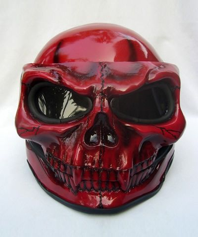 Skull Motorcycle Helmets - WARNING