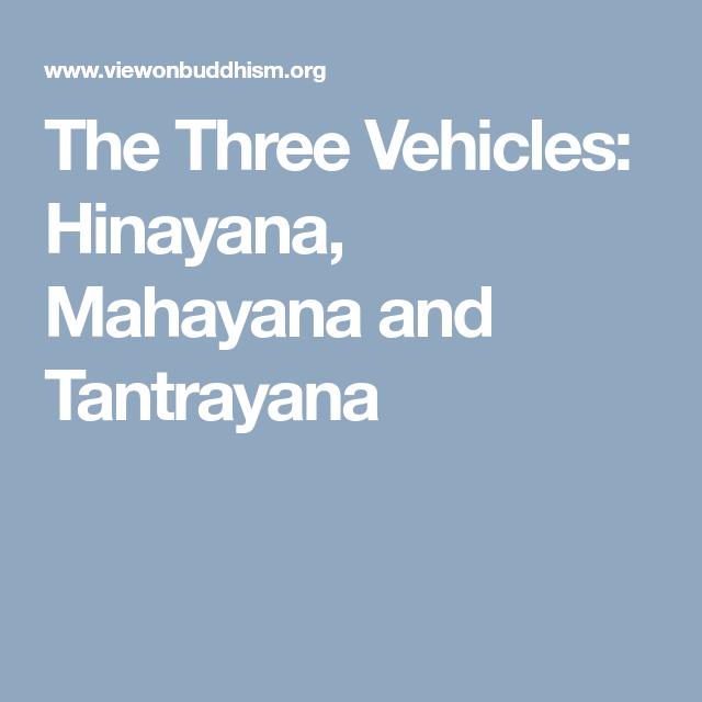 hinayana and mahayana