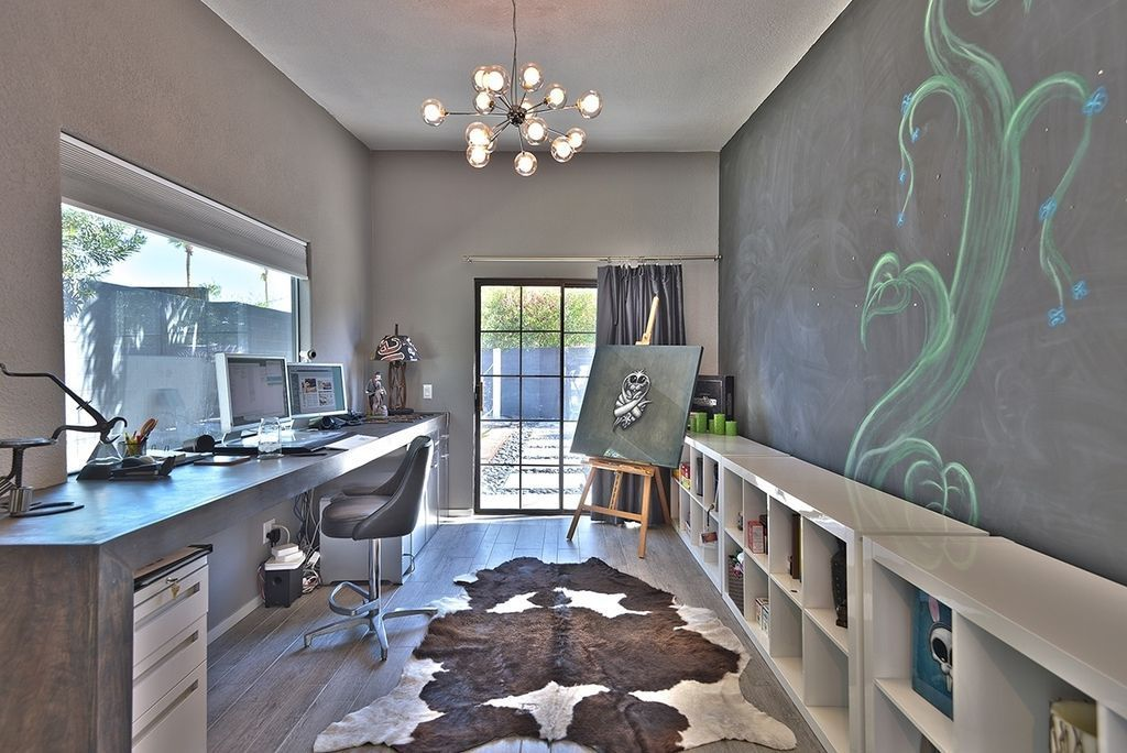 Awesome Modern Home Office With Chandelier : Determine The Right Size Chandeliers  For Your Rooms