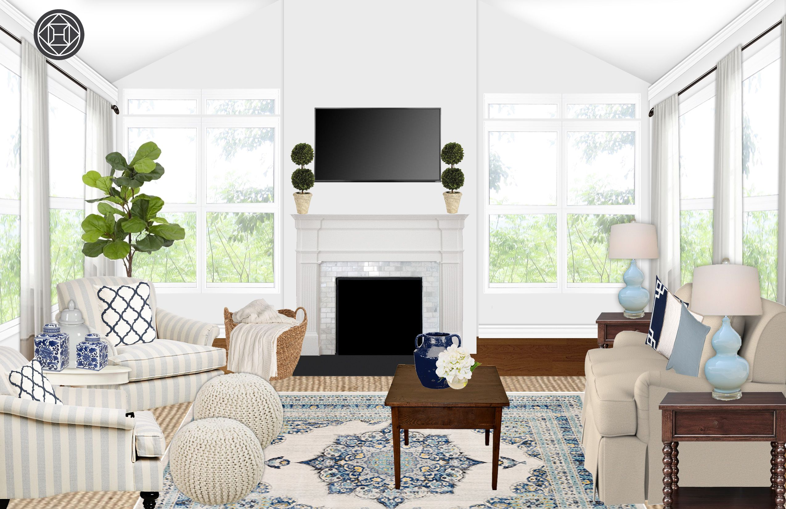 Let Havenly create your dream space through a fun and ... on Fun Living Room Ideas  id=67167