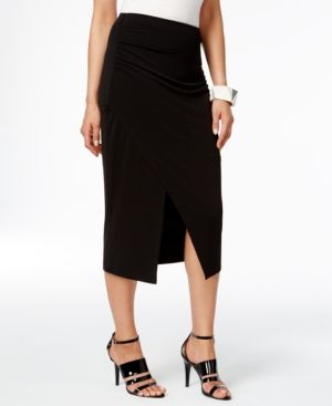 3242a10a44 Alfani Faux-Wrap Pencil Skirt, Only at Macy's - Black XXL | Products ...