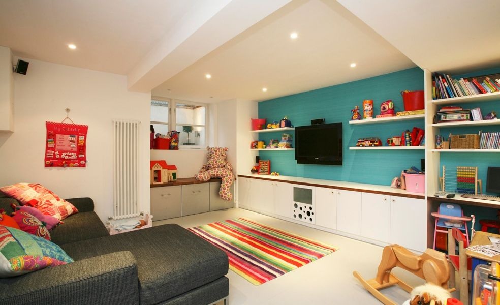 fun colours for games room kd little more modern fun home rh pinterest nz Cozy TV Room kids tv room furniture