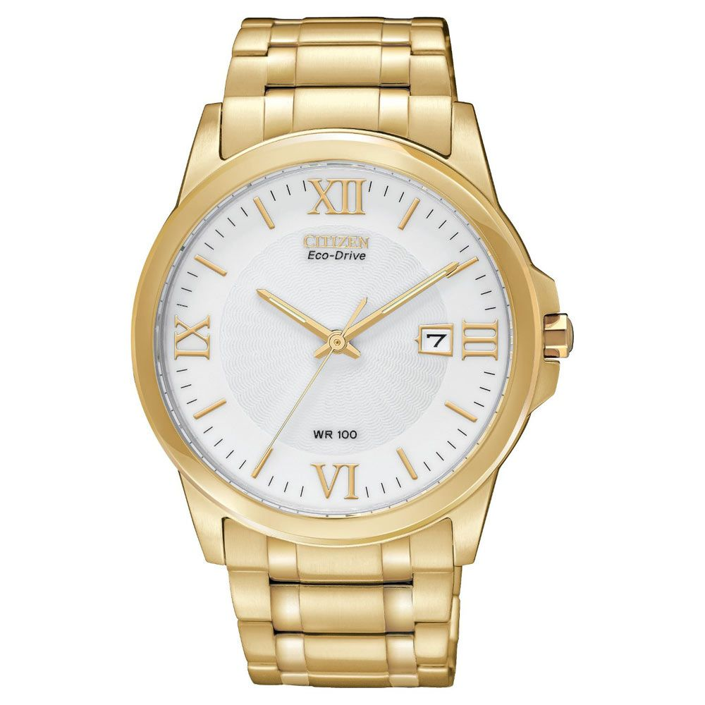Citizen bma menus white dial gold tone stainless steel