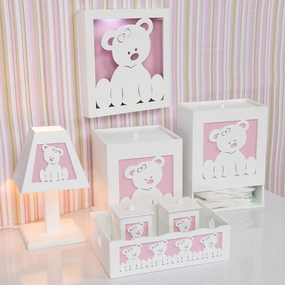 Kit higiene completo ursa baby objetos de madera for Objetos decoracion habitacion bebe