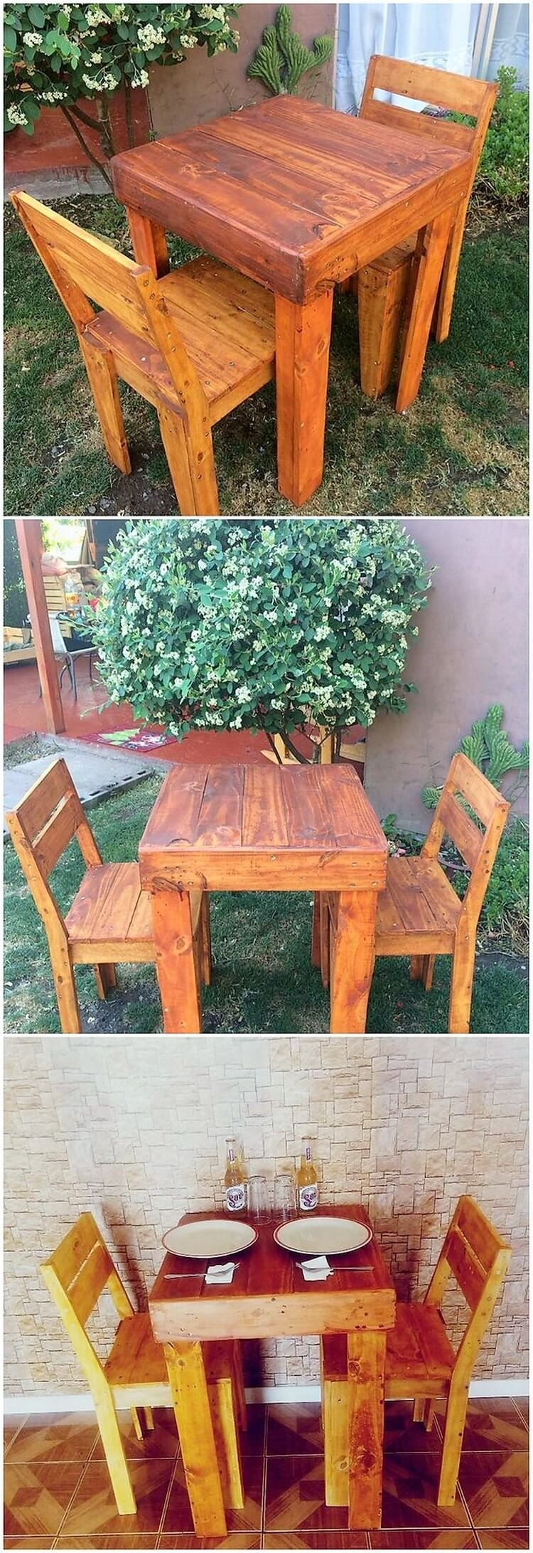 Your house outdoor will look so imperfect and incomplete if it is not equipped with the best perfection of the wood pallet furniture set into it. This amazing furniture set is enclosed with the settlement of the chairs pairing that is durable and rough sturdy use of the pallet all into it.