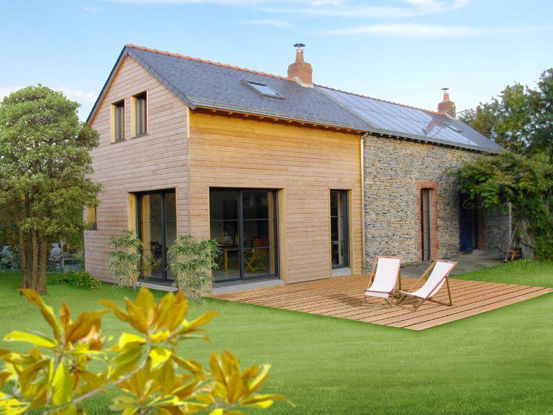 M lange pierres et bois maison bois pinterest melange pierre et bois for Construction maison en bois et pierre