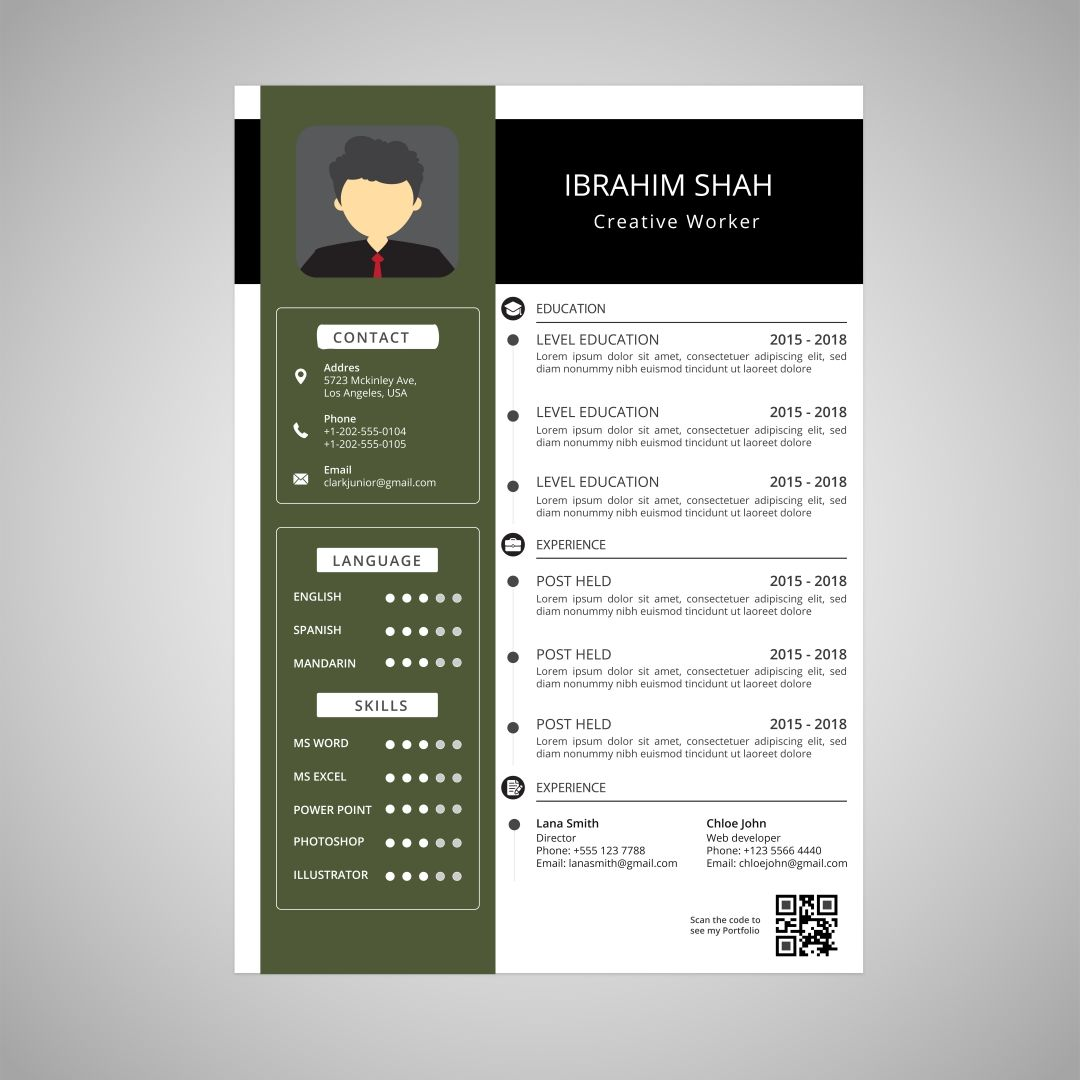 Download Free Template Resume Box Design July 2020
