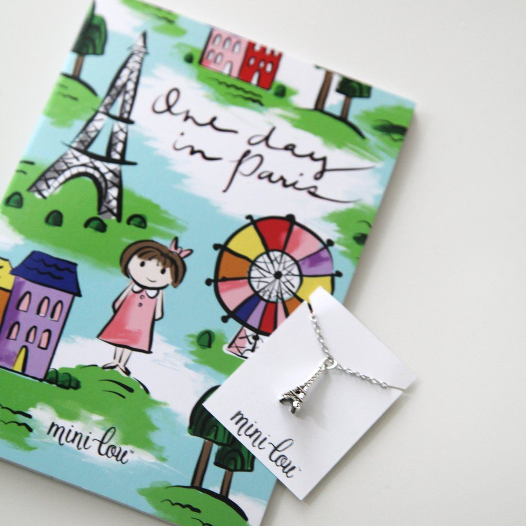 One Day In Paris Coloring Book And Eiffel Tower Necklace Gift Set Paris Gifts Coloring Books Eiffel Tower Necklace